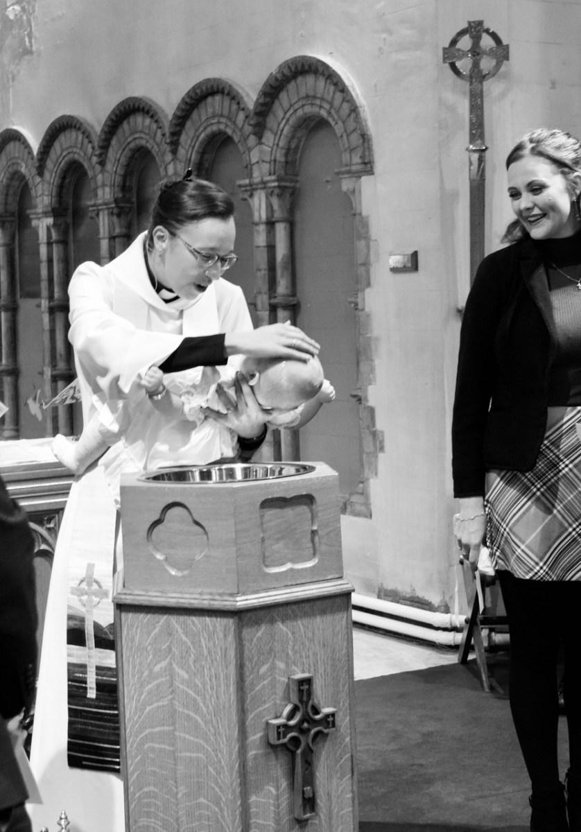 Baptism Black and White