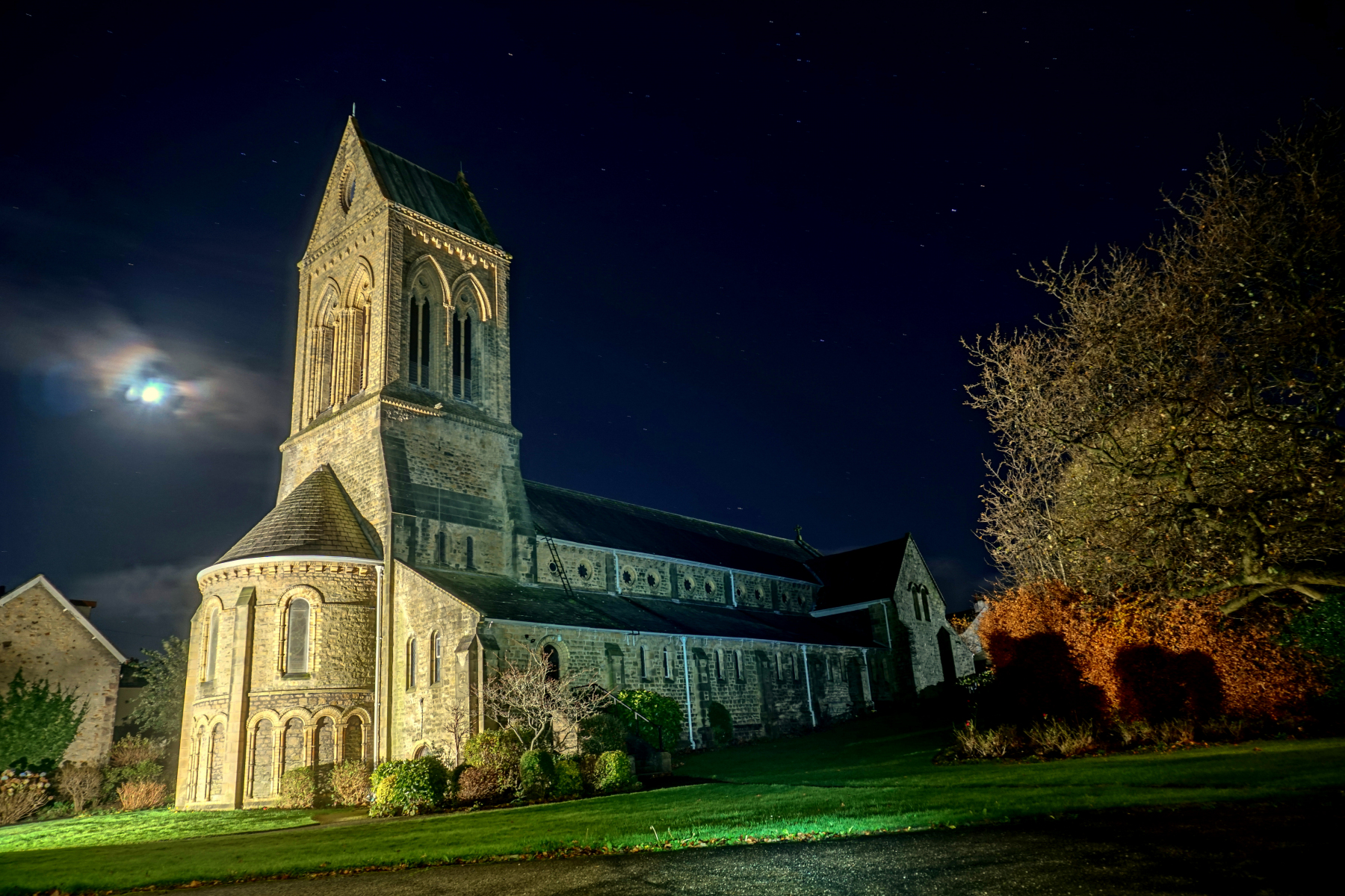 Church at Night (by Ian Greene)